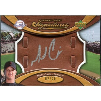 2007 Upper Deck Sweet Spot Signatures Glove Leather Silver Ink #MC Matt Cain /25