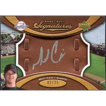 2007 Upper Deck Sweet Spot Signatures Glove Leather Silver Ink #MC Matt Cain /25