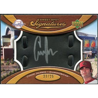 2007 Upper Deck Sweet Spot Signatures Black Glove Leather Silver Ink #CJ Conor Jackson /25