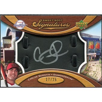2007 Upper Deck Sweet Spot Signatures Black Glove Leather Silver Ink #CQ Carlos Quentin /25