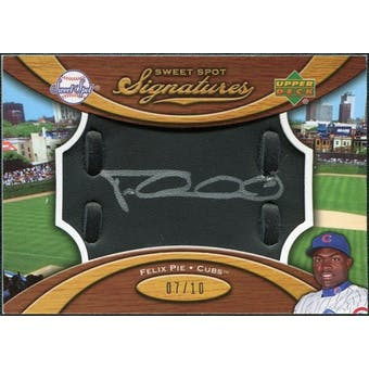 2007 Upper Deck Sweet Spot Signatures Black Glove Leather Silver Ink #FP Felix Pie /10