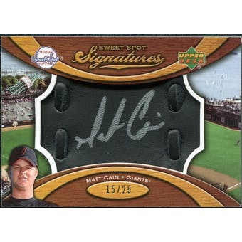 2007 Upper Deck Sweet Spot Signatures Black Glove Leather Silver Ink #MC Matt Cain /25