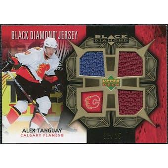 2007/08 Upper Deck Black Diamond Jerseys Gold Triple #BDJAT Alex Tanguay /25