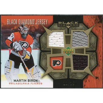 2007/08 Upper Deck Black Diamond Jerseys Gold Triple #BDJBI Martin Biron 11/25