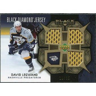 2007/08 Upper Deck Black Diamond Jerseys Gold Triple #BDJDL David Legwand /25