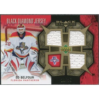 2007/08 Upper Deck Black Diamond Jerseys Gold Triple #BDJEB Ed Belfour /25