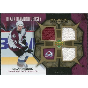 2007/08 Upper Deck Black Diamond Jerseys Gold Triple #BDJHE Milan Hejduk /25