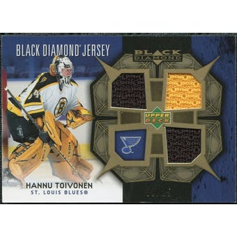 2007/08 Upper Deck Black Diamond Jerseys Gold Triple #BDJHT Hannu Toivonen 9/25