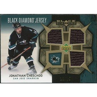 2007/08 Upper Deck Black Diamond Jerseys Gold Triple #BDJJO Jonathan Cheechoo /25