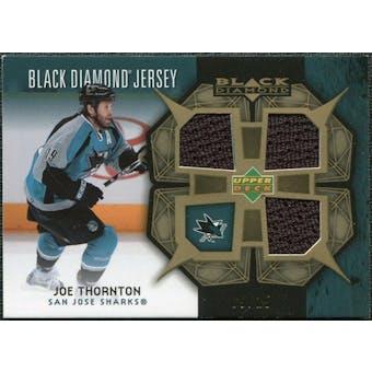 2007/08 Upper Deck Black Diamond Jerseys Gold Triple #BDJJT Joe Thornton 9/25