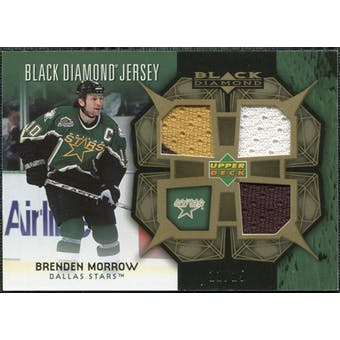 2007/08 Upper Deck Black Diamond Jerseys Gold Triple #BDJMO Brenden Morrow /25