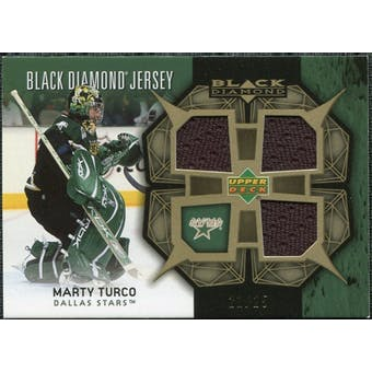 2007/08 Upper Deck Black Diamond Jerseys Gold Triple #BDJMT Marty Turco 21/25