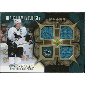 2007/08 Upper Deck Black Diamond Jerseys Gold Triple #BDJPM Patrick Marleau /25