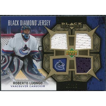 2007/08 Upper Deck Black Diamond Jerseys Gold Triple #BDJRL Roberto Luongo 7/25
