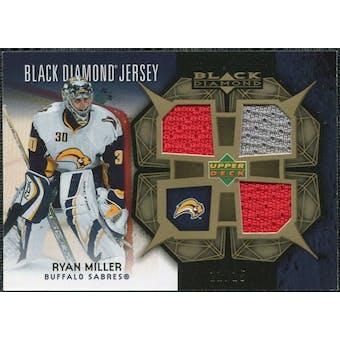 2007/08 Upper Deck Black Diamond Jerseys Gold Triple #BDJRM Ryan Miller /25