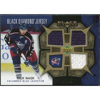 2007/08 Upper Deck Black Diamond Jerseys Gold Triple #BDJRN Rick Nash /25