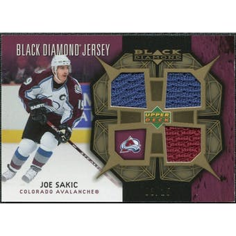 2007/08 Upper Deck Black Diamond Jerseys Gold Triple #BDJSA Joe Sakic /25