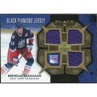 2007/08 Upper Deck Black Diamond Jerseys Gold Triple #BDJSH Brendan Shanahan /25
