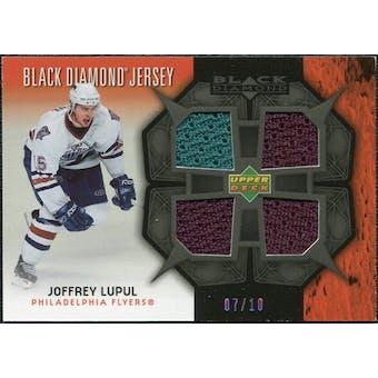 2007/08 Upper Deck Black Diamond Jerseys Black Quad #BDJLU Joffrey Lupul /10