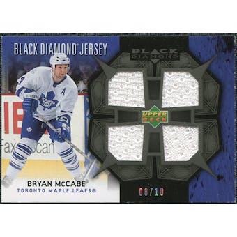 2007/08 Upper Deck Black Diamond Jerseys Black Quad #BDJMC Bryan McCabe /10