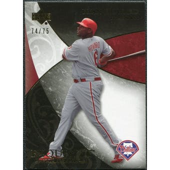 2007 Upper Deck Exquisite Collection Rookie Signatures Gold #4 Ryan Howard /75
