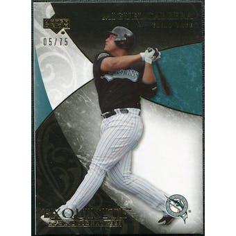 2007 Upper Deck Exquisite Collection Rookie Signatures Gold #42 Miguel Cabrera 5/75