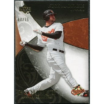 2007 Upper Deck Exquisite Collection Rookie Signatures Gold #89 Nick Markakis /75