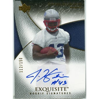 2007 Upper Deck Exquisite Collection #86 Justise Hairston RC Autograph /150