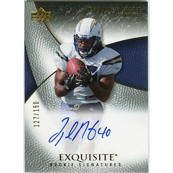 2007 Upper Deck Exquisite Collection #92 Legedu Naanee RC Autograph /150