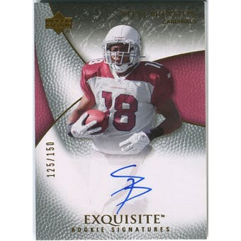 2007 Upper Deck Exquisite Collection #100 Steve Breaston RC Autograph /150