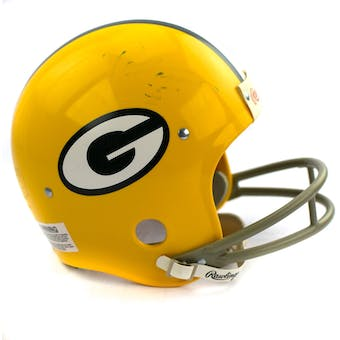 Paul Hornung Green Bay Packers Autographed Football Replica Helmet (faded sig) PSA COA #D96039 (Reed Buy)