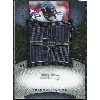 2007 Upper Deck Exquisite Collection Maximum Jersey Silver #SA Shaun Alexander /75