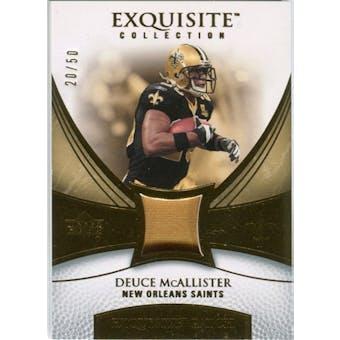 2007 Upper Deck Exquisite Collection Patch Gold #DE Deuce McAllister /50