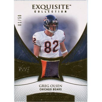 2007 Upper Deck Exquisite Collection Patch Gold #GO Greg Olsen /50