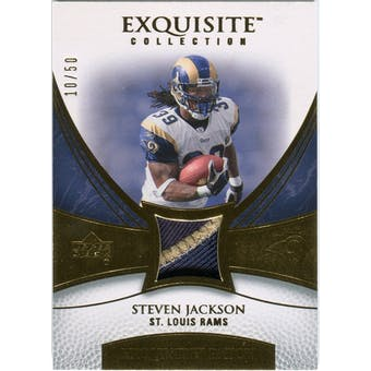 2007 Upper Deck Exquisite Collection Patch Gold #JA Steven Jackson /50