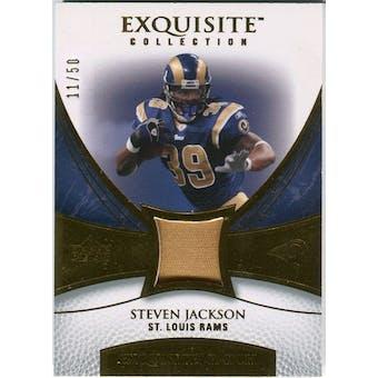 2007 Upper Deck Exquisite Collection Patch Gold #SJ Steven Jackson /50