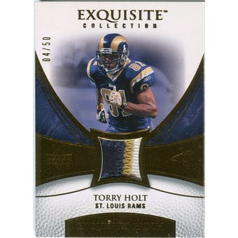 2007 Upper Deck Exquisite Collection Patch Gold #TH Torry Holt 4/50