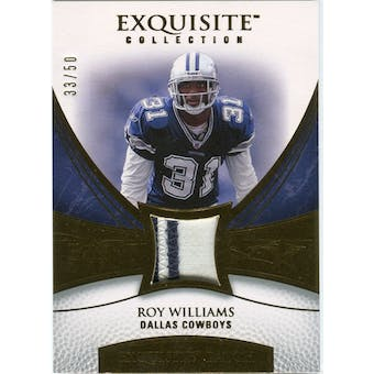 2007 Upper Deck Exquisite Collection Patch Gold #WR Roy Williams S 33/50