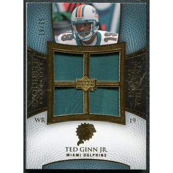 2007 Upper Deck Exquisite Collection Maximum Patch #TG Ted Ginn Jr. 19/25