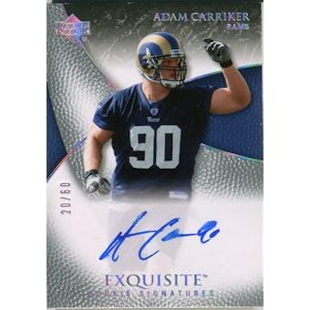 2007 Upper Deck Exquisite Collection Gold #62 Adam Carriker Autograph /60