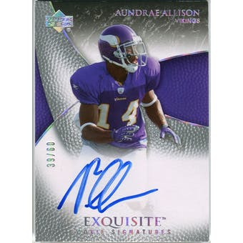 2007 Upper Deck Exquisite Collection Gold #66 Aundrae Allison Autograph /60
