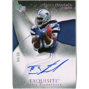 2007 Upper Deck Exquisite Collection Gold #75 Isaiah Stanback Autograph /60
