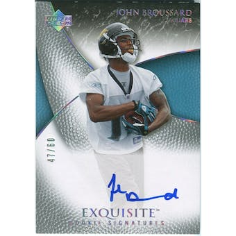 2007 Upper Deck Exquisite Collection Gold #82 John Broussard Autograph /60