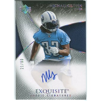 2007 Upper Deck Exquisite Collection Gold #94 Michael Griffin Autograph /60