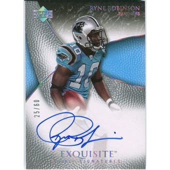 2007 Upper Deck Exquisite Collection Gold #99 Ryne Robinson Autograph /60