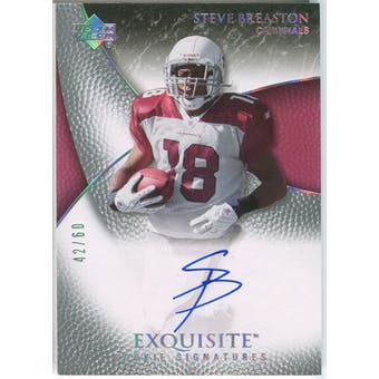 2007 Upper Deck Exquisite Collection Gold #100 Steve Breaston Autograph /60