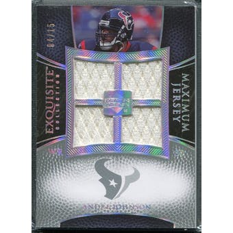 2007 Upper Deck Exquisite Collection Maximum Jersey Silver Spectrum #AJ Andre Johnson /15