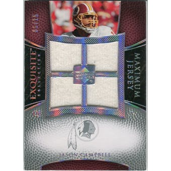 2007 Upper Deck Exquisite Collection Maximum Jersey Silver Spectrum #JC Jason Campbell /15
