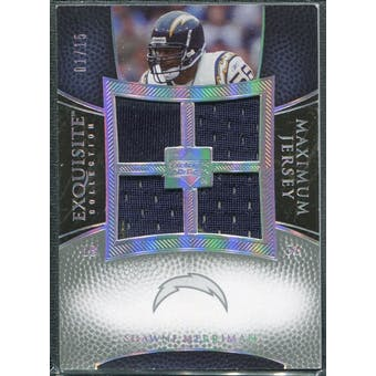 2007 Upper Deck Exquisite Collection Maximum Jersey Silver Spectrum #ME Shawne Merriman /15