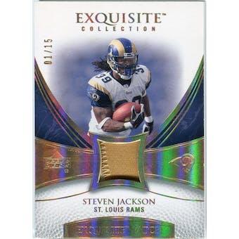 2007 Upper Deck Exquisite Collection Patch Spectrum #JA Steven Jackson 01/15